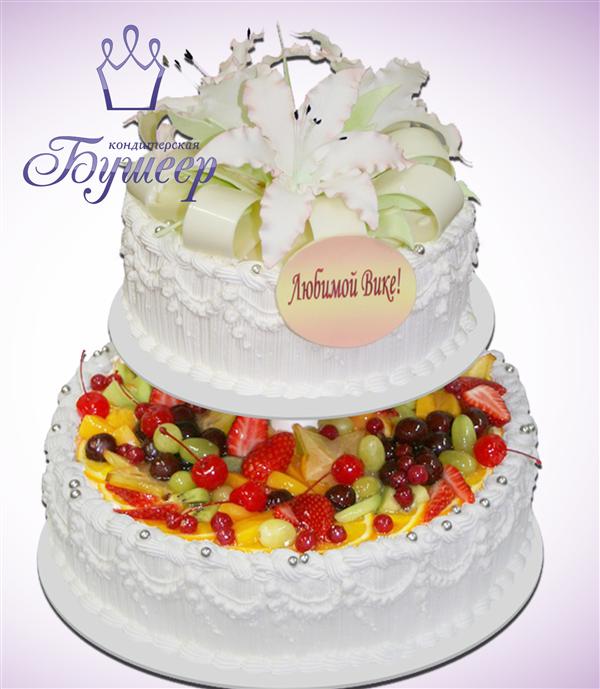 Торт с фруктами для ребенка фото 6