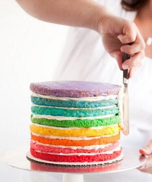 Как сделать коржи для разноцветного торта 184